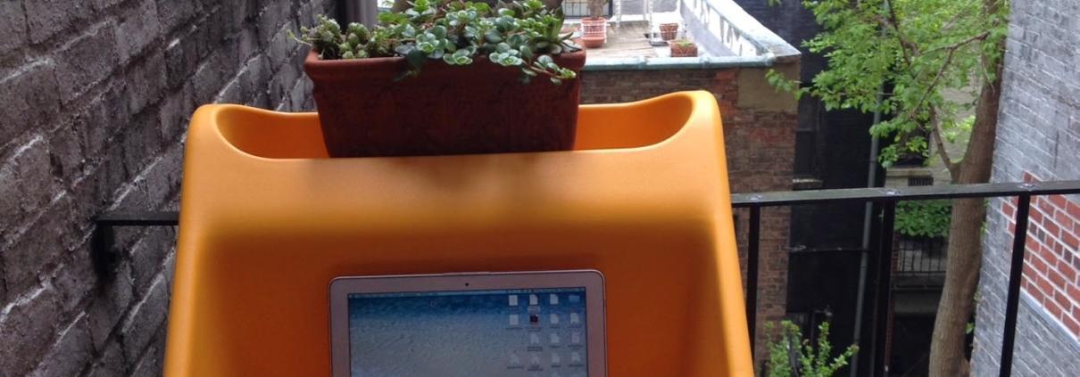 Werken met uitzicht vanaf je balkon